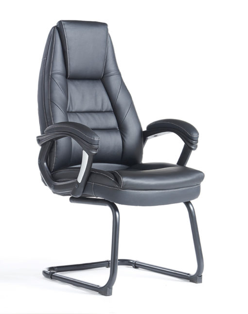 Nobis Office Furniture - Noble executive visitors chair - black faux leather