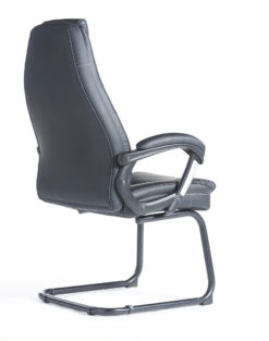 Noble executive visitors chair - black faux leather
