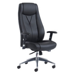 Nobis Office Furniture - Odessa high back executive chair - black faux leather