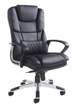 Nobis Office Furniture - Palermo high back executive chair - black faux leather