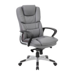 Nobis Office Furniture - Palermo high back executive chair - grey faux leather