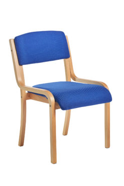 Nobis Office Furniture - Prague wooden conference chair with no arms - blue