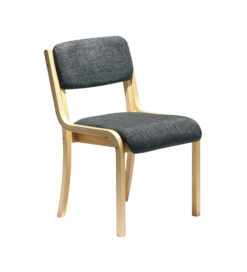 Nobis Office Furniture - Prague wooden conference chair with no arms - charcoal