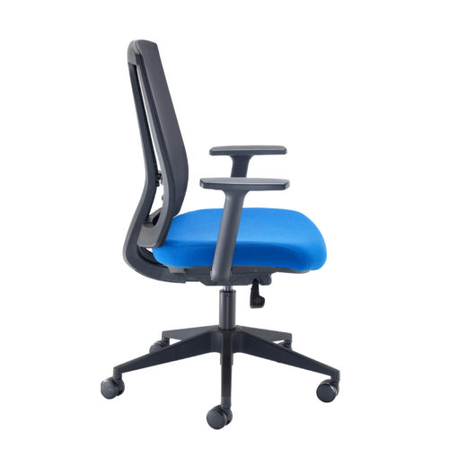 Ronan mesh back operators chair with fixed arms - blue