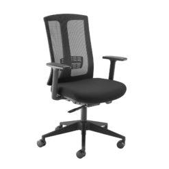 Nobis Office Furniture - Ronan mesh back operators chair with fixed arms - black