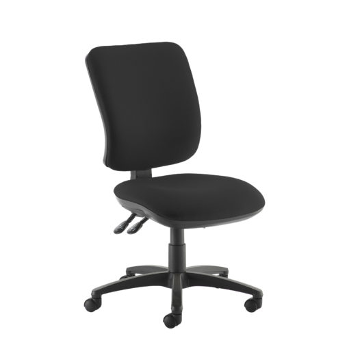 Nobis Office Furniture - Senza high back operator chair with no arms - black