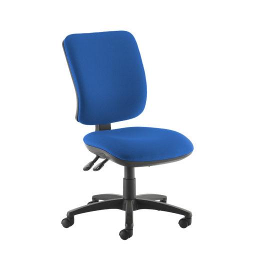 Nobis Office Furniture - Senza high back operator chair with no arms - blue