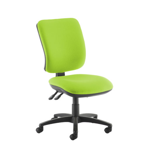 Nobis Office Furniture - Senza high back operator chair with no arms - green