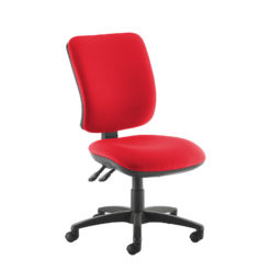 Nobis Office Furniture - Senza high back operator chair with no arms - red