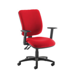 Nobis Office Furniture - Senza high back operator chair with adjustable arms - red