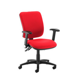 Nobis Office Furniture - Senza high back operator chair with folding arms - red