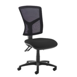 Nobis Office Furniture - Senza high mesh back operator chair with no arms - black