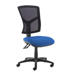 Nobis Office Furniture - Senza high mesh back operator chair with no arms - blue