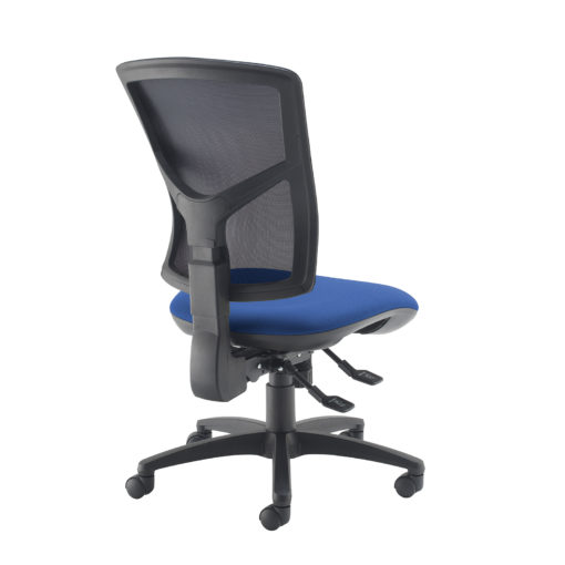 Senza high mesh back operator chair with no arms - blue