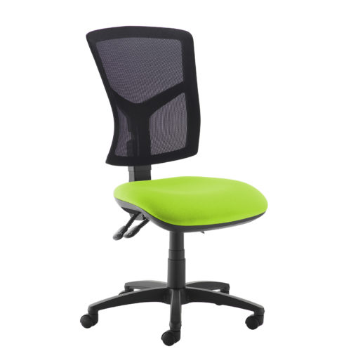 Nobis Office Furniture - Senza high mesh back operator chair with no arms - green