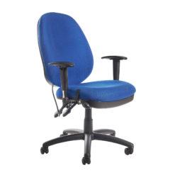 Nobis Office Furniture - Sofia adjustable lumbar operators chair - blue