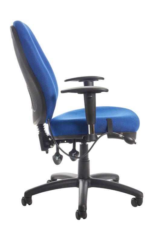 Sofia adjustable lumbar operators chair - blue
