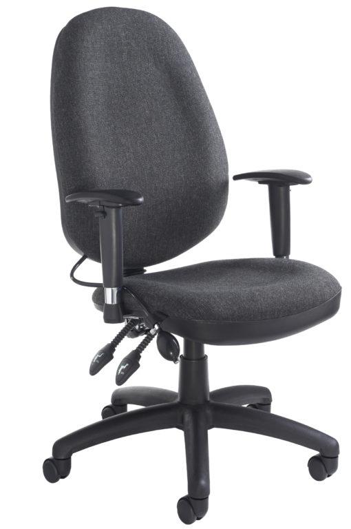 Nobis Office Furniture - Sofia adjustable lumbar operators chair - charcoal