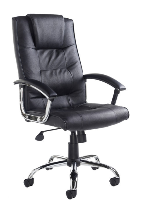 Nobis Office Furniture - Somerset high back managers chair - black leather faced