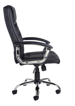 Somerset high back managers chair - black leather faced