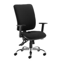 Nobis Office Furniture - Senza ergo 24hr ergonomic asynchro task chair - black