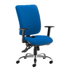 Nobis Office Furniture - Senza ergo 24hr ergonomic asynchro task chair - blue