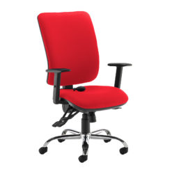 Nobis Office Furniture - Senza ergo 24hr ergonomic asynchro task chair - red