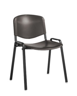 Nobis Office Furniture - Taurus plastic meeting room stackable chair with no arms - black with black frame