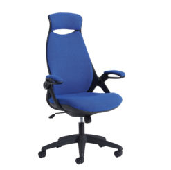 Nobis Office Furniture - Tuscan high back fabric managers chair with head support - blue