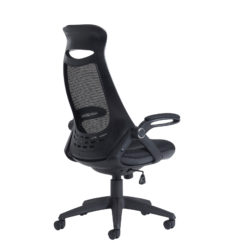 Tuscan mesh high back chair with head support - black