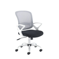Nobis Office Furniture - Tyler mesh back operator chair with white frame