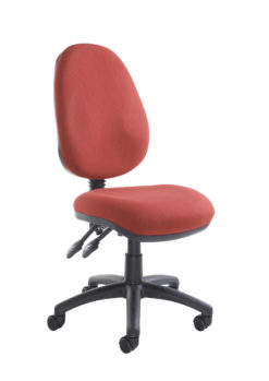 Nobis Office Furniture - Vantage 100 2 lever PCB operators chair with no arms - burgundy