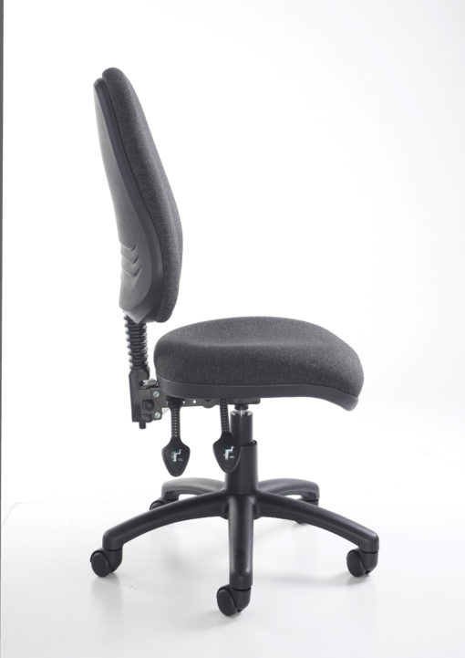 Vantage 100 2 lever PCB operators chair with no arms - red