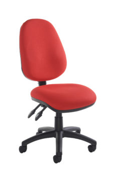 Nobis Office Furniture - Vantage 100 2 lever PCB operators chair with no arms - red