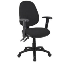 Nobis Office Furniture - Vantage 100 2 lever PCB operators chair with adjustable arms - black