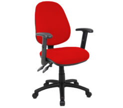 Nobis Office Furniture - Vantage 100 2 lever PCB operators chair with adjustable arms - red