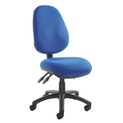 Nobis Office Furniture - Vantage 200 3 lever asynchro operators chair with no arms - blue