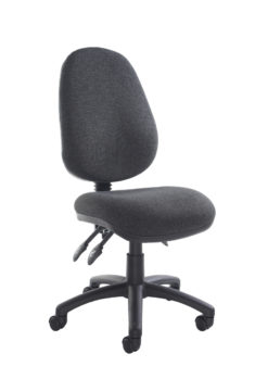Nobis Office Furniture - Vantage 200 3 lever asynchro operators chair with no arms - charcoal