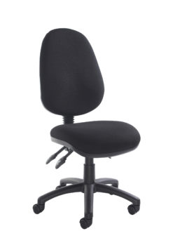 Nobis Office Furniture - Vantage 200 3 lever asynchro operators chair with no arms - black