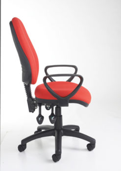 Vantage 200 3 lever asynchro operators chair with fixed arms - black