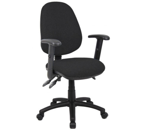 Nobis Office Furniture - Vantage 200 3 lever asynchro operators chair with adjustable arms - black