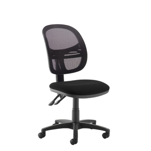 Nobis Office Furniture - Jota Mesh medium back operators chair with no arms - black