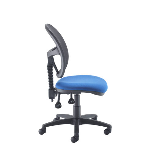 Jota Mesh medium back operators chair with no arms - blue
