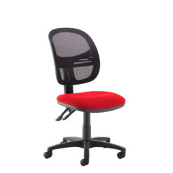 Nobis Office Furniture - Jota Mesh medium back operators chair with no arms - red