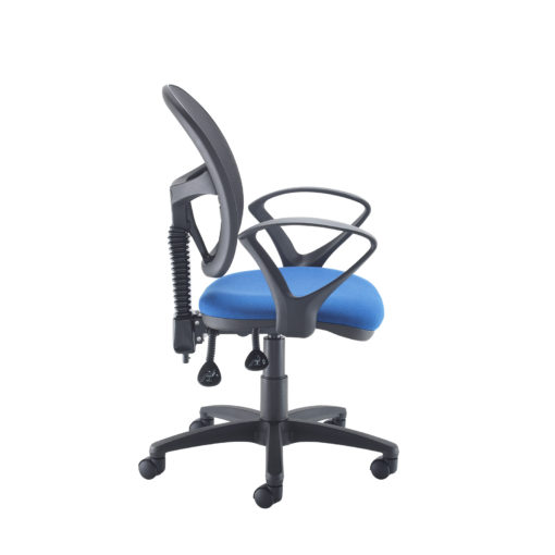 Jota Mesh medium back operators chair with fixed arms - blue