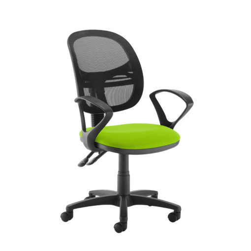 Nobis Office Furniture - Jota Mesh medium back operators chair with fixed arms - green
