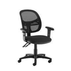 Nobis Office Furniture - Jota Mesh medium back operators chair with adjustable arms - black