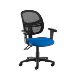 Nobis Office Furniture - Jota Mesh medium back operators chair with adjustable arms - blue
