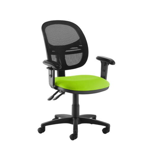 Nobis Office Furniture - Jota Mesh medium back operators chair with adjustable arms - green